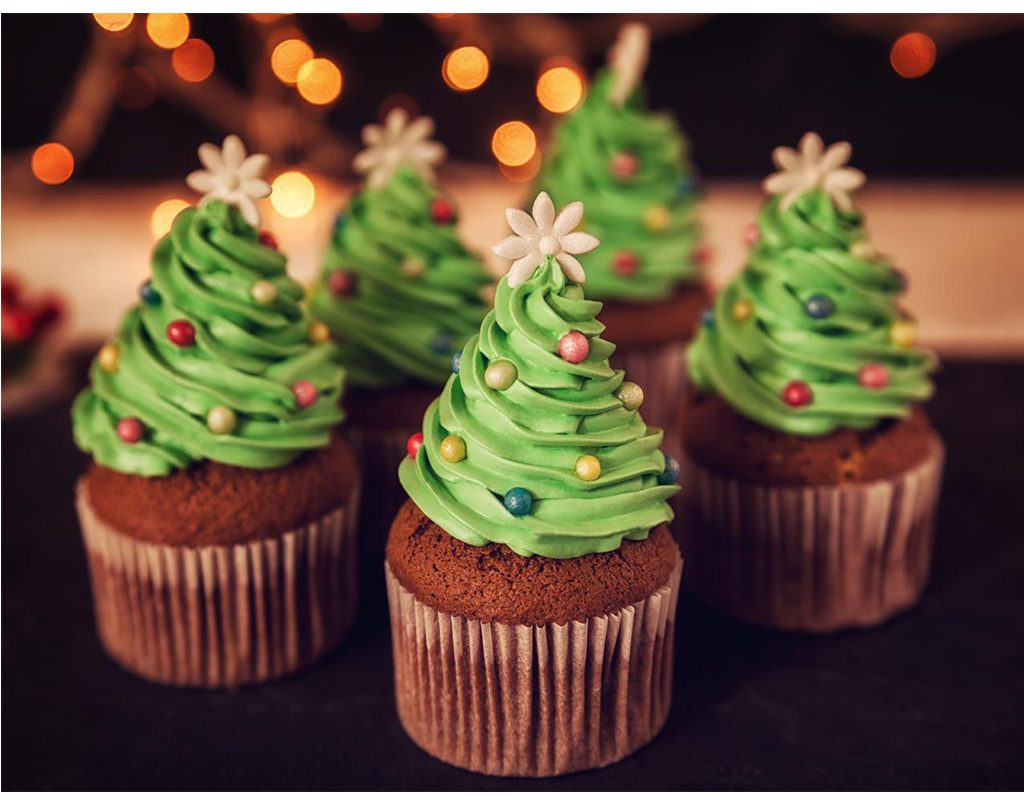 Christmas cupcake and cookie decorating for kids