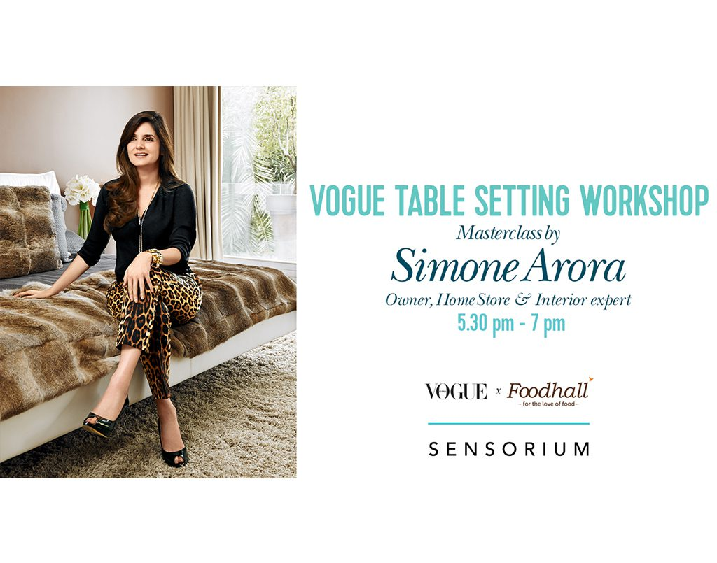 Vogue's Table Setting Workshop with Simone Arora