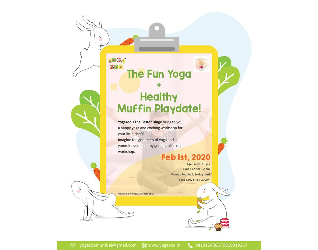 The Fun Yoga + Healthy Muffin Playdate