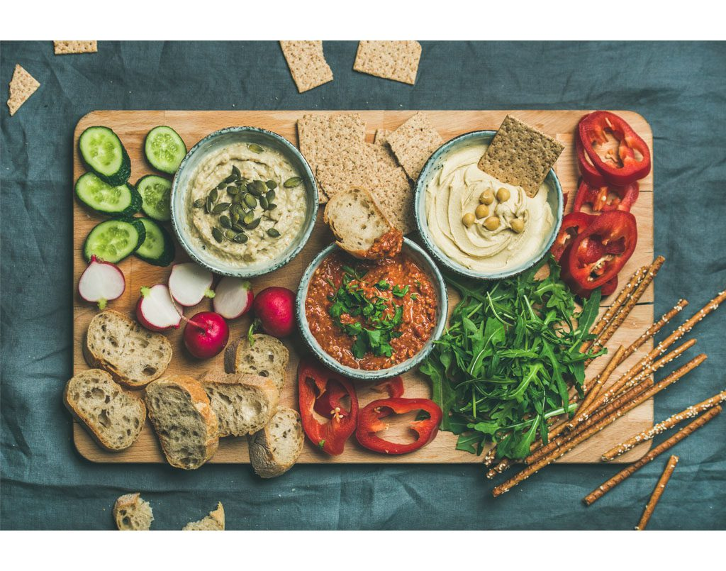 Middle eastern appetisers and dips
